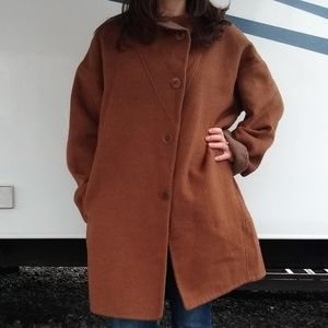 Eileen Fisher Baby Alpaca Blend Oversized Coat